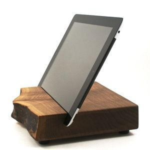 Black Walnut Tablet Stand - Hoffar Woodworks