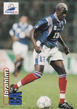 1998 Panini World Cup #43 Ibrahim Ba Front