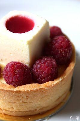pistachio custard   Rasberry Tart with Vanilla Bean Custard