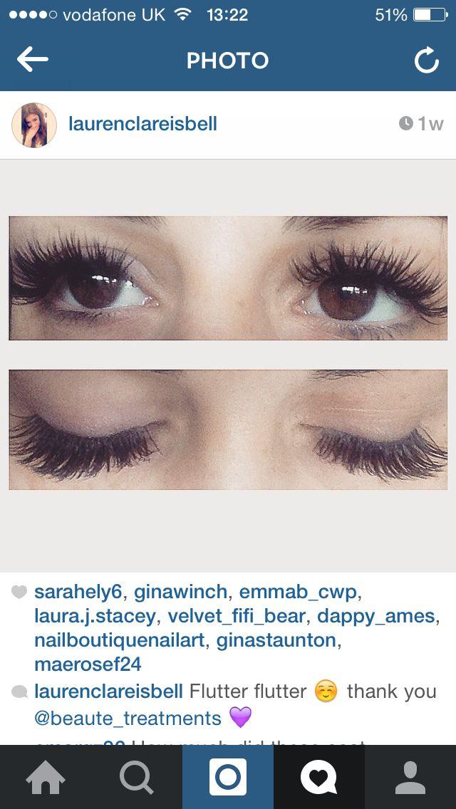 Happy eyelash extensions client