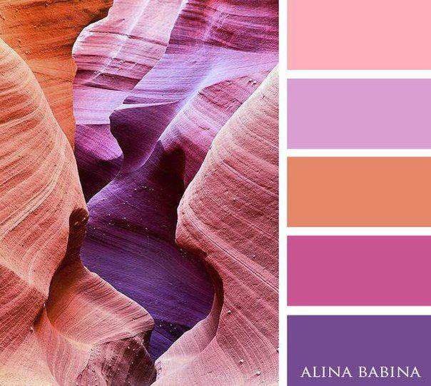 pinks + violets