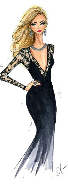 Fashion Illustration Print by Anum Tariq