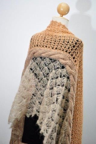 Fancy Mohair And Wool Shawl - Cliff | Mohair Products | Annette Oelofse Mohair Products
