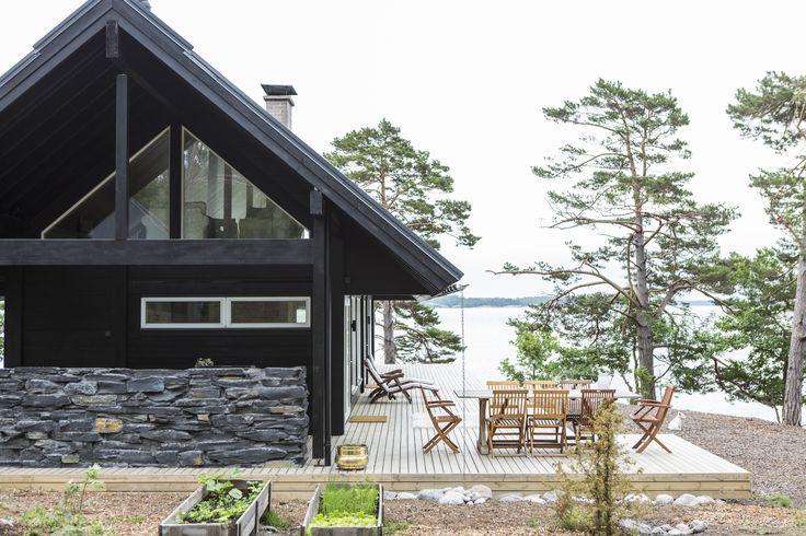 Honka Saari cabins are designed for ragged archipelago landscape.