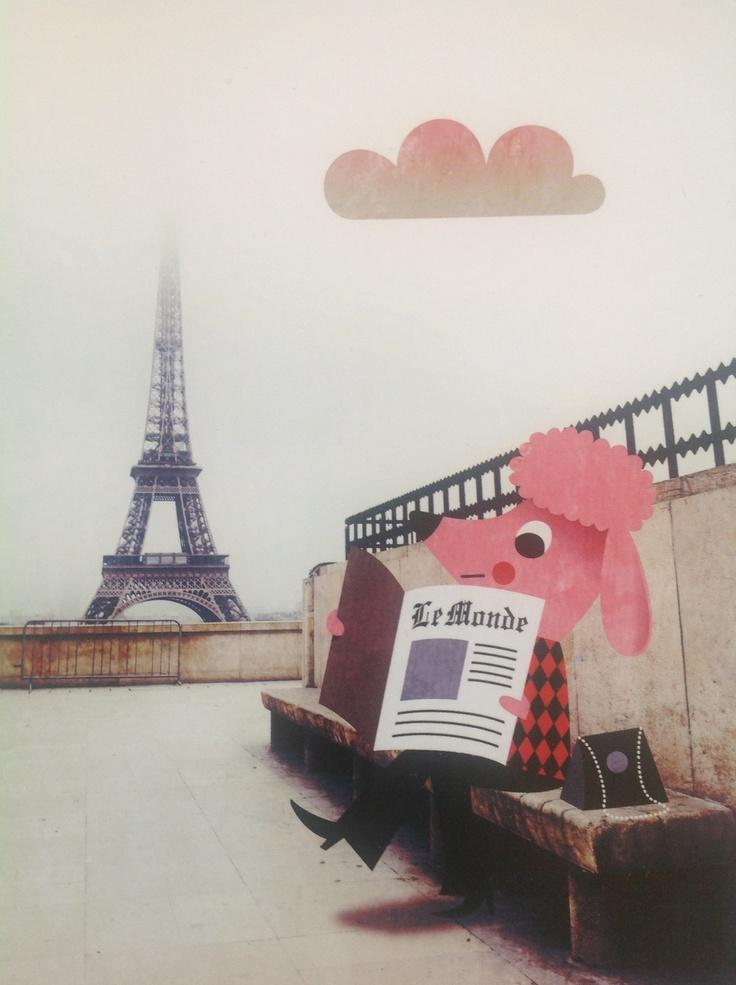 : Postcards, Ingela Arrhenius, Paris Postcard Mini Print, Prints Art Illustrations, Kids, Omm Design