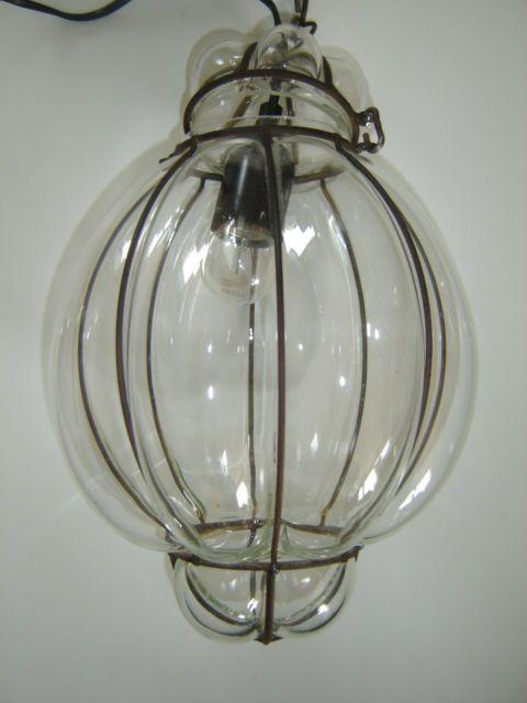 Online veilinghuis Catawiki: Vintage lamp van Venetiaans glas.