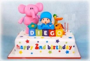 pocoyo and friends birthday cake