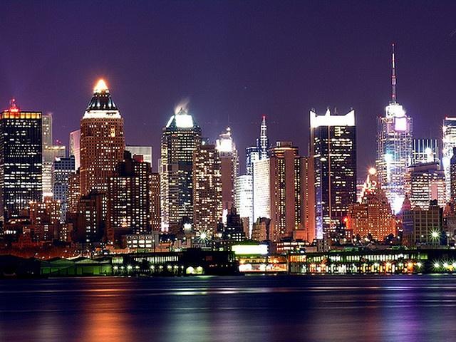 New York City Skyline @ Night     flights