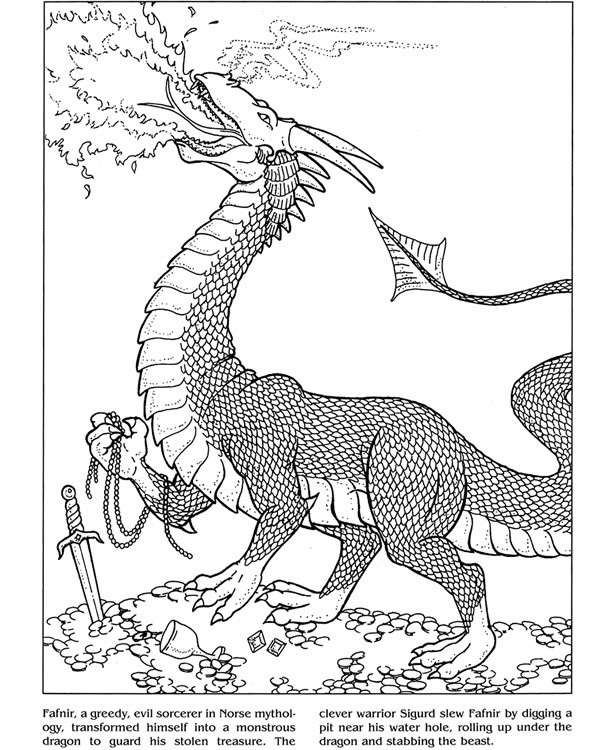 Welcome To Dover Publications Dragons Coloring Book