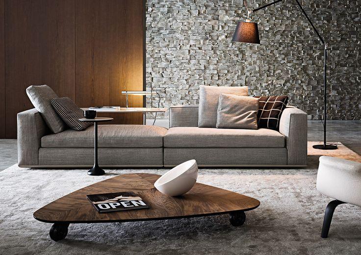 SOFAS -  EN   POWELL Powell, ovvero la quintessenza del divano contemporaneo secondo Minotti: accogliente, raffinato ed informale al tempo stesso. Un sistema di sedute,