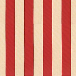 Canopy Stripe Red/Sand Sunbrella® Fabric by the Yard