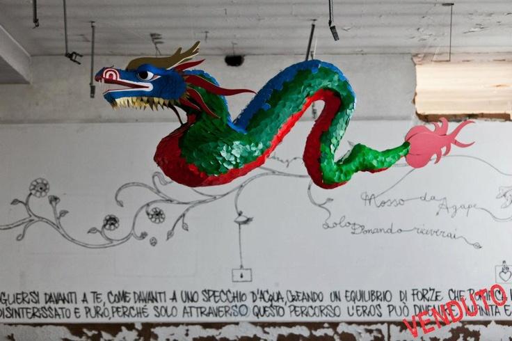 """""""Drago mosso da Agape"""" set design and murales"""