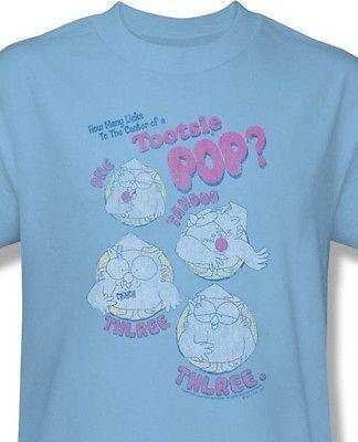 fc1912aeafe Tootsie Pop T shirt How Many Licks Mr. Owl retro cotton tee movie TR100 - T- Shirts
