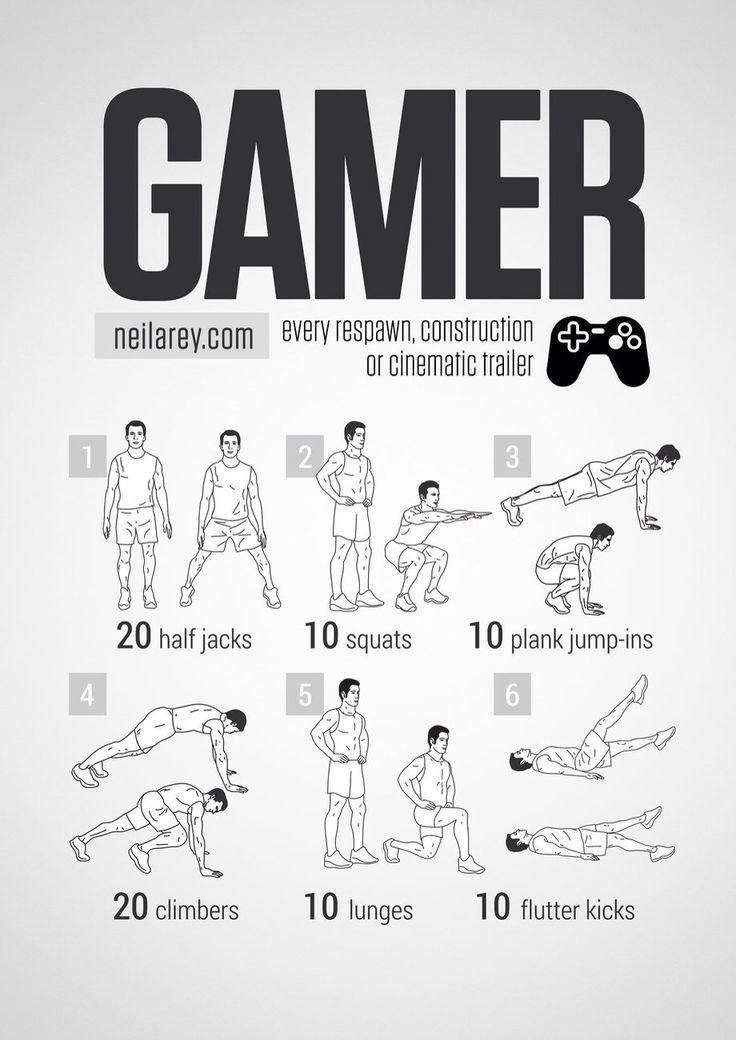 Gamer workout