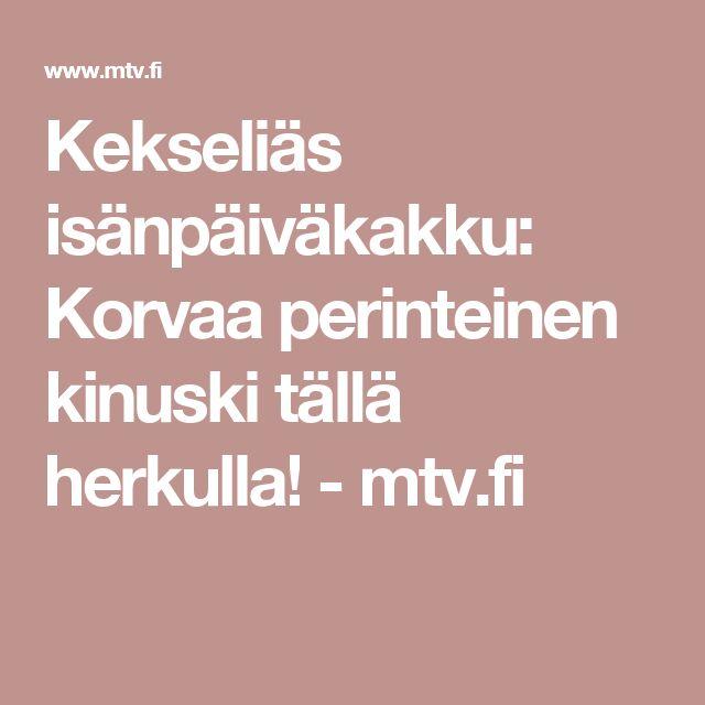 Kekseliäs isänpäiväkakku: Korvaa perinteinen kinuski tällä herkulla! - mtv.fi