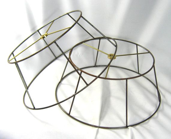 Never thought to use lamp shade frames to make a Chandelier | Fab You Bliss