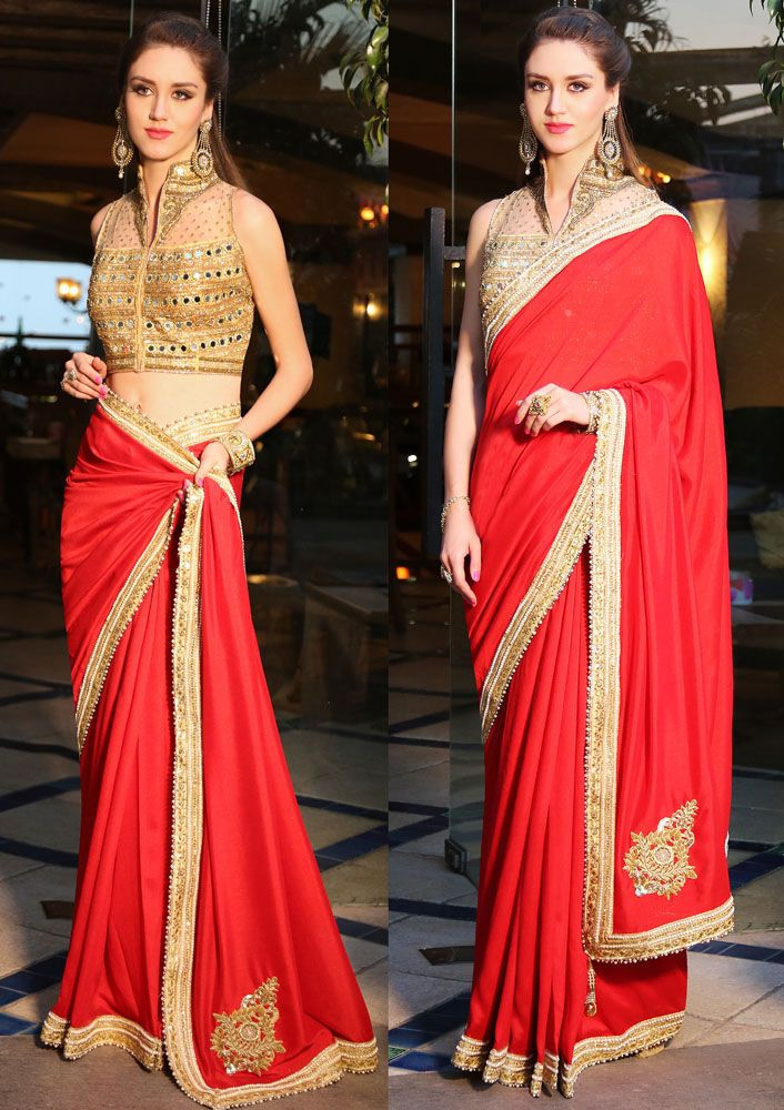 Indian saree blouse bollywood designer ethnic wedding wear latest bridal saris  #Handmade #saree