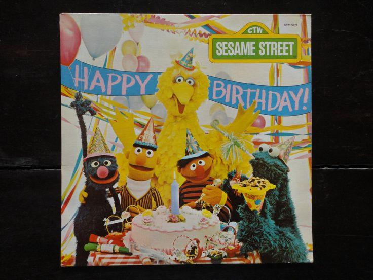 Vintage Vinyl Record-Sesame Street-Happy Birthday-1977-Jim Henson-The Muppets-Rare by MissMaudVintage on Etsy https://www.etsy.com/listing/232070118/vintage-vinyl-record-sesame-street-happy