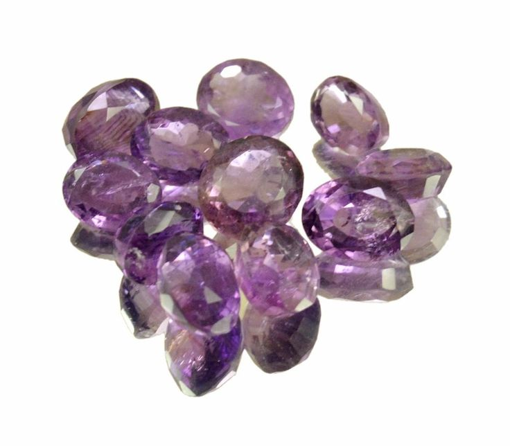 50ct / 11pc VS Natural Purple Amethyst Quartz Loose Gemstone Wholesale Lot #krishnagemsnjewels