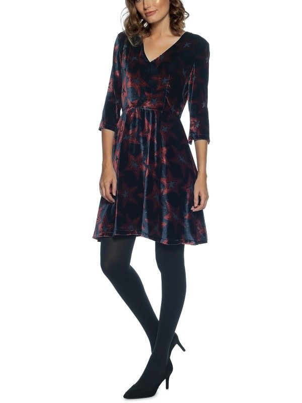 Neve Star Devore Dress 3 4 Slv Cool 4four In 2019 Tommy