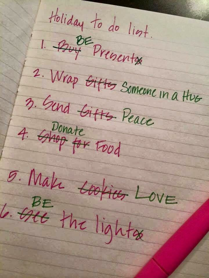 Look Around The Corner: Holiday to do list.