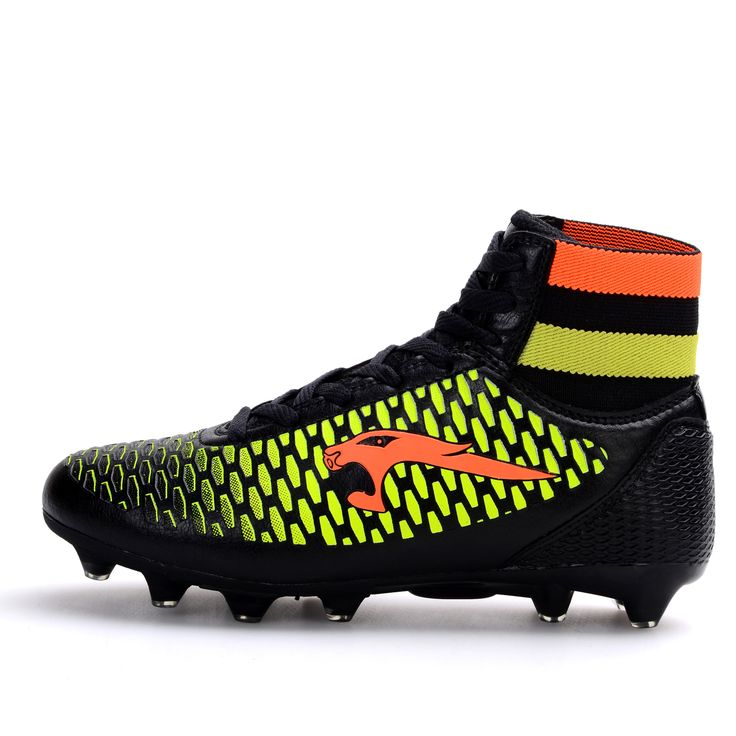 Football Soccer Shoes High Ankle Cleats Football Boots For Men Kids Boys High Top Soccer Boots Leather Outdoor Football Shoes