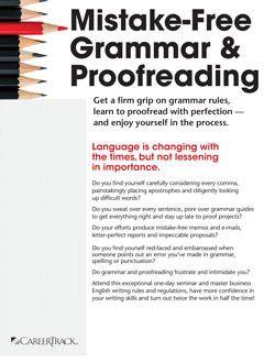 Mistake-free grammar & proofreading training | pryor learning.