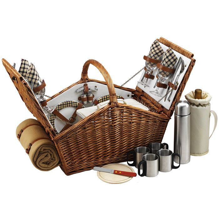 Huntsman Picnic Basket Set--I could picnic quite professionally with this
