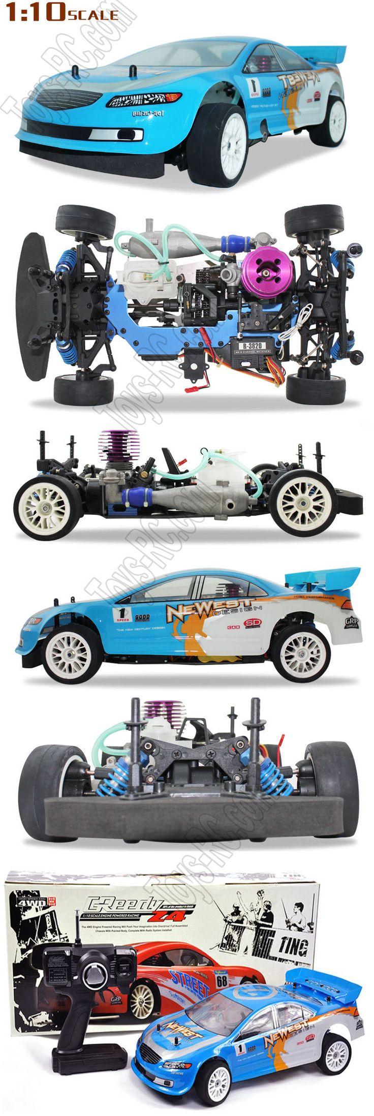 Victory hawk vh z4 1 10 4wd two speed rc nitro gas racing car