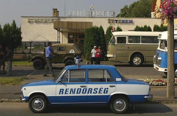 Hungarian retro police car