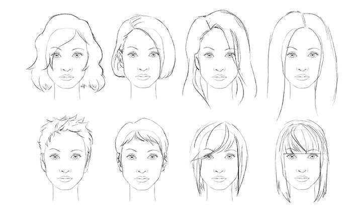 hairstyles draw step female drawing tutorials different hairstyle easy face 1001 drawings braids archzine sketch faces