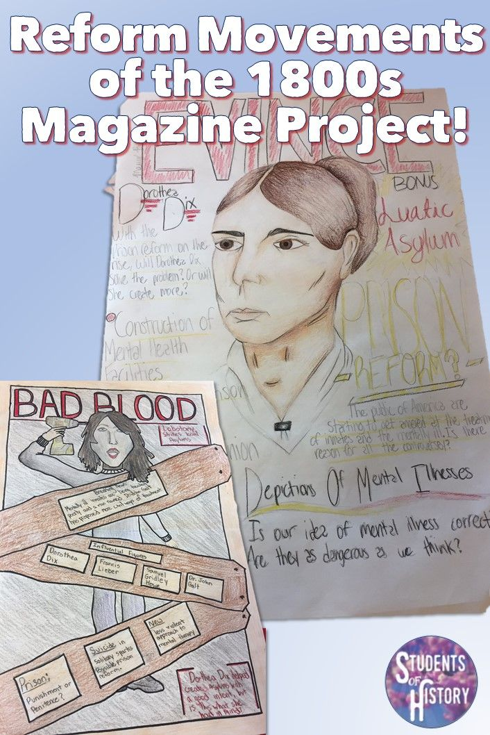 Cooperative learning project on American Reform Movements of the 1800s. Includes readings on the Temperance & Abolition Movements, Prison, Education, Factory & Workplace Reforms and Women's Rights!