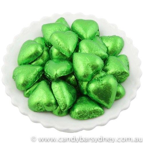 Green Cadbury Chocolate Hearts