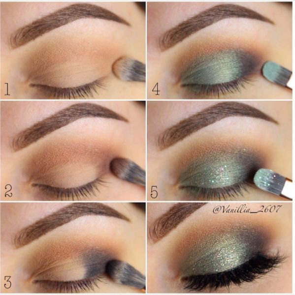 Green can be tricky, but here's proof that it can be done. | 18 Eye Makeup Cheat Sheets If You Don't Know WTF You're Doing