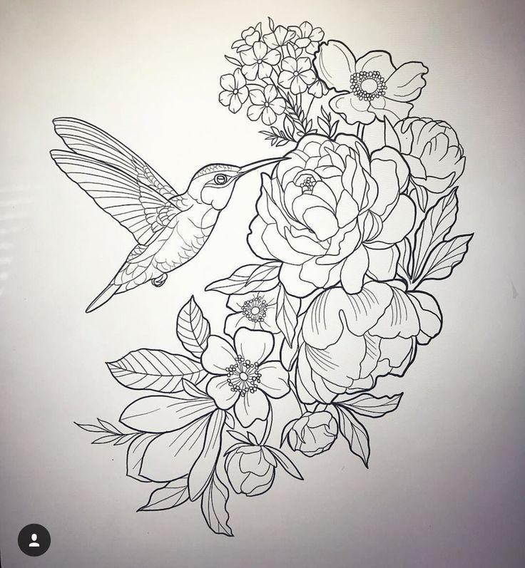 должна птицы на цветах эскиз тату кто хоть