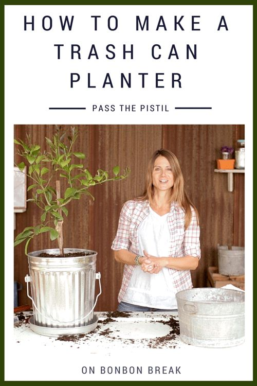 How to Make a Trash Can Planter by Pass the Pistil - this is a great alternative for the gardener who doesn't have a lot of space.  This DIY option can bring plants and even a garden into your small space!