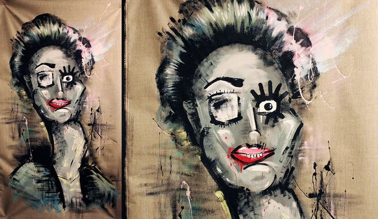 Say hello to DAGNY, Autentico Chalk paint Art by LINA - Speed drawing