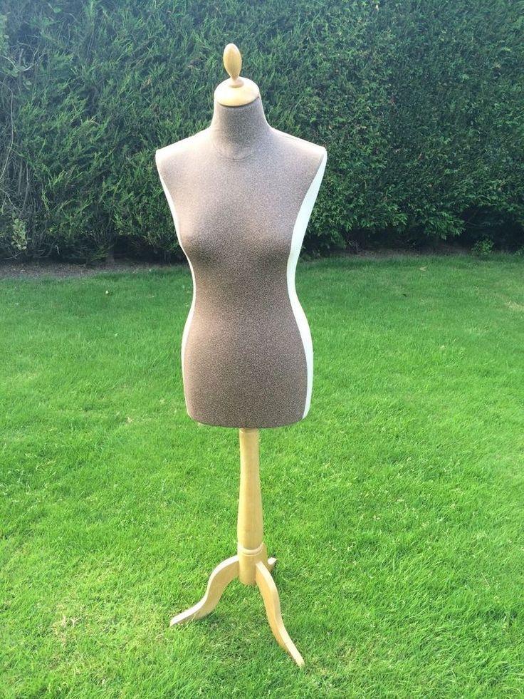 Mannequin Manikin Body Stand Dummy Bust Figure Display (light brown/beige)