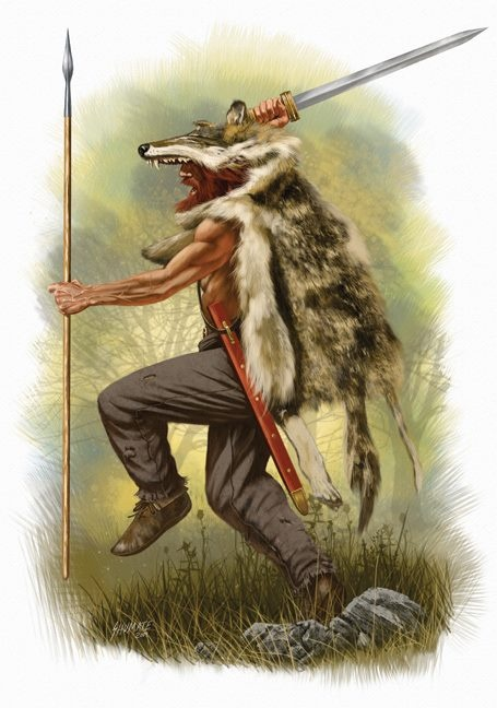 Scando-Germanic Ulfheðinn (Wolf Warrior): likely from the end of the 4th century, but his arms and dress would likely have varied little from the late 3rd to the mid 7th centuries C.E.