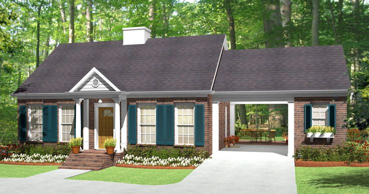 - 62123V | Traditional, 1st Floor Master Suite, CAD Available, Carport, PDF | Architectural Designs