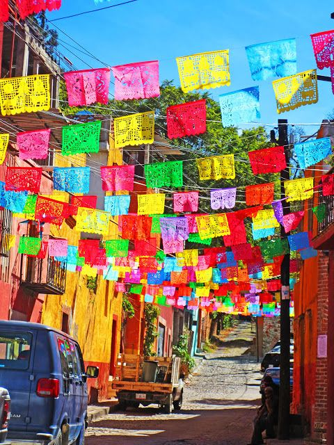 Papel Picados add color to the streets