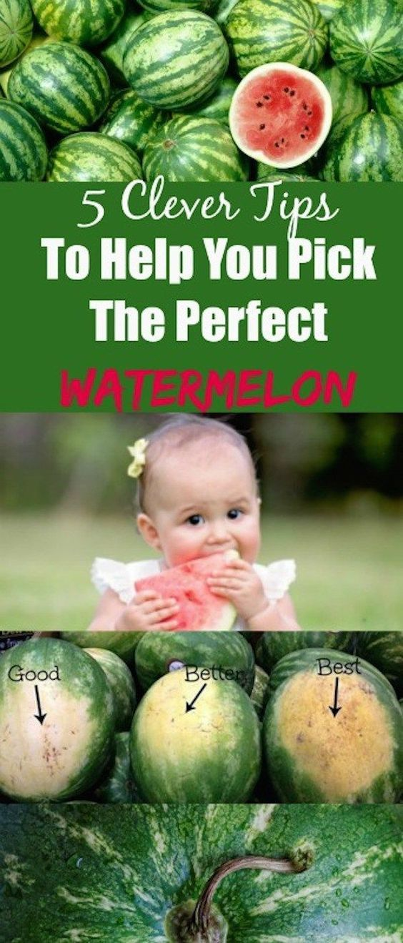 5 Clever Tips To Help You Pick The Perfect Watermelon. Healthy tips.