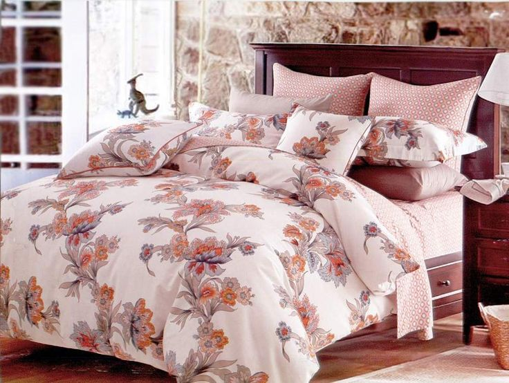 Abloom - 4 Pc TWIN Sheet Set 100% Cotton Duvet Cover Bedding Dolce Mela  #DolceMela