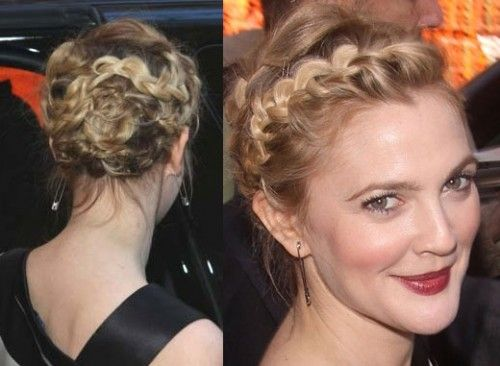 Drew Barrymore Braided Up-do