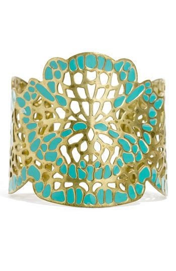 gold and turquoise... love