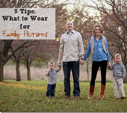 tips on what to wear for family pictures!