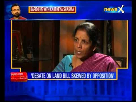 NewsX editor Kartikeya Sharma exclusive interview with Nirmala Sitharaman