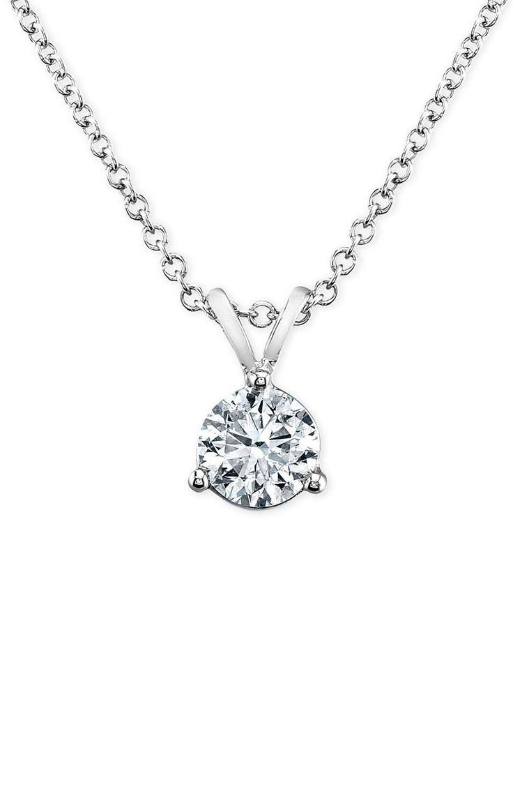 Bony Levy 'Solitaire' Diamond Pendant Necklace (Nordstrom Exclusive)