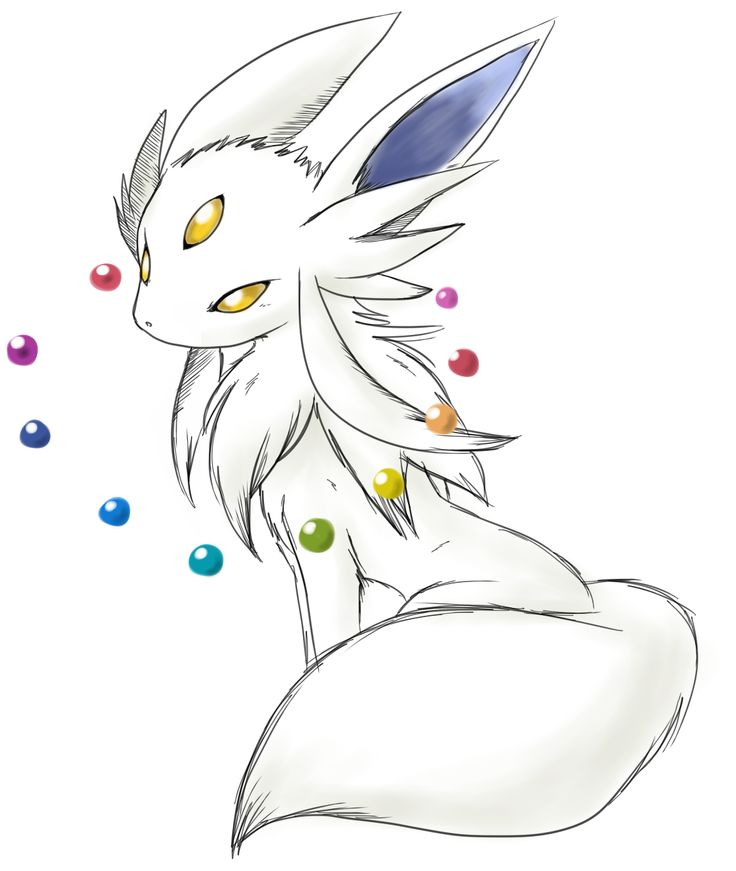 This should be Eevee's evolution. If you level an Eevee long enough without changing it...