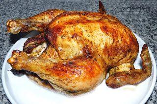 Receptek a portugál World: sült csirke Fény